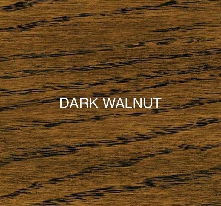 dark walnut stain